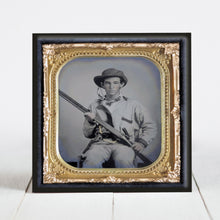 Load image into Gallery viewer, Confederate Soldier with Double Barrel Shotgun, Revolver, Side Knife - Civil War Era