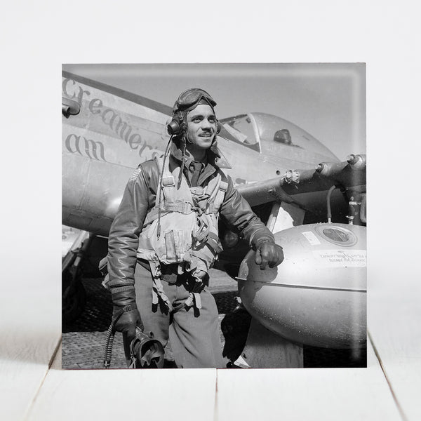 Edward C. Gleed, Tuskegee Airman at Ramitelli, Italy March 1945