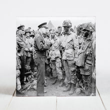"Load image into Gallery viewer, General Dwight D. Eisenhower giving ""Full Victory"" Speech to Band of Brothers"