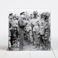 "General Dwight D. Eisenhower giving ""Full Victory"" Speech to Band of Brothers"