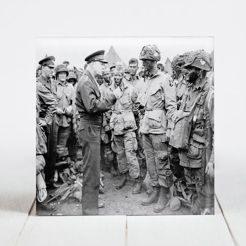 General Dwight D. Eisenhower giving