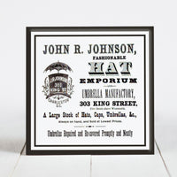 John R. Johnson Hat Emporium - King St., Charleston SC  c.1800s