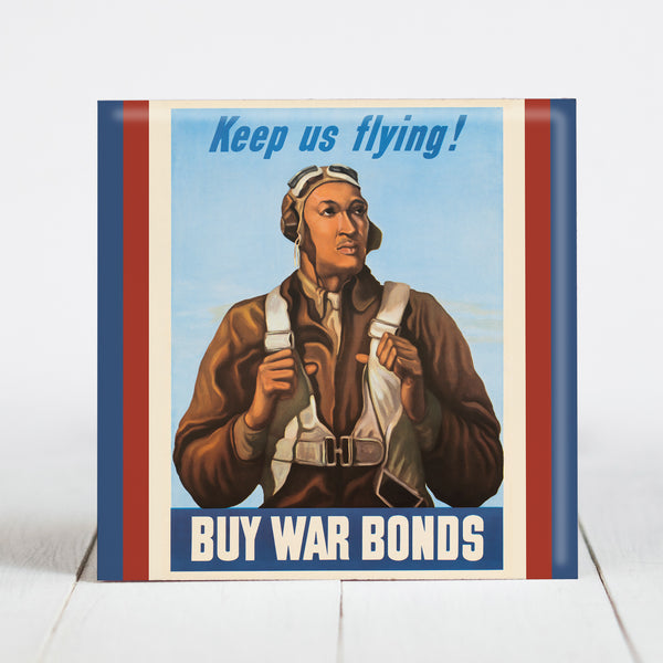 Tuskegee Airman Robert Diez - War Bond Poster WW2