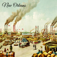 Levee Scene at New Orleans c.1884 by Currier & Ives