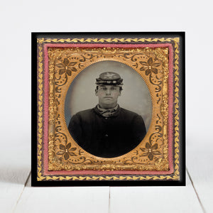Union Soldier Lorenzo Hawkins - Company I, 12th Reg. New Hampshire Volunteers - Civil War Era