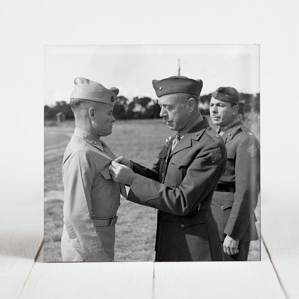 "Lt. Col. Lewis B. ""Chesty"" Puller Receiving Navy Cross c.1943"