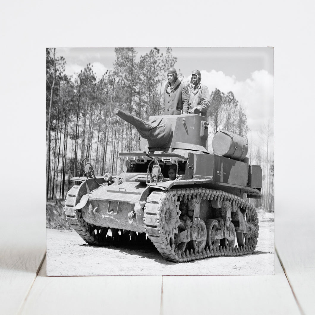 Marines in Training on Tank - Camp Lejeune, North Carolina c.1943