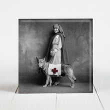 Load image into Gallery viewer, Red Cross Nurse with Service Dog c.1915