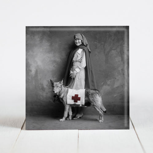 Red Cross Nurse with Service Dog c.1915