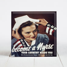 Load image into Gallery viewer, Nurse Recruitment Poster - World War II Era