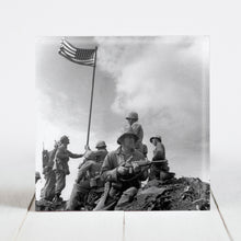 Load image into Gallery viewer, Flag Raising at Iwo Jima, Mt. Suribachi by the 2nd Battalion 28th Marines - Feb 23, 1945