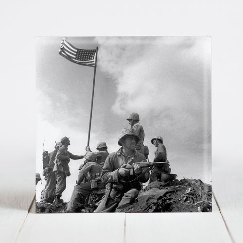 Flag Raising at Iwo Jima, Mt. Suribachi by the 2nd Battalion 28th Marines - Feb 23, 1945