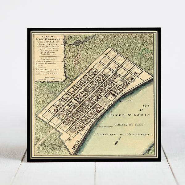 1720 Map of New Orleans