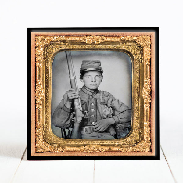 Sergeant William T. Biedler, 16 years old, of Company C, Mosby's Virginia Confederate Cavalry Regiment