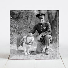 "Load image into Gallery viewer, Sgt. Jiggs - US Marines Bulldog Mascot with Lt. General Lewis ""Chesty"" Puller c.1925"