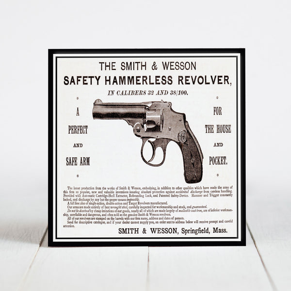 Smith & Wesson Gun Advertisement c.1889