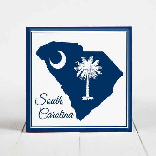 South Carolina Map with State Flag Icons