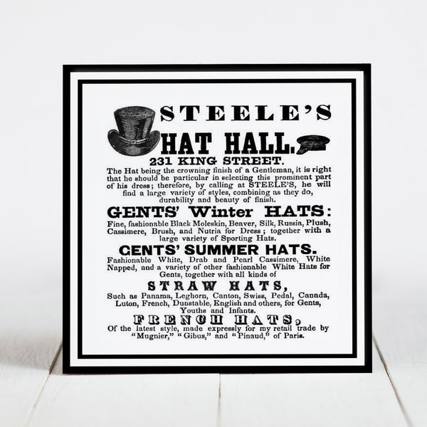 Steele's Hat Hall - King Street, Charleston SC  c.1800s