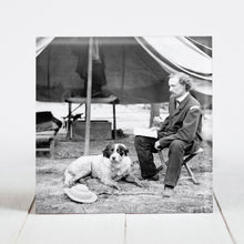 Load image into Gallery viewer, Lt. George A. Custer with dog at The Peninsula, VA c1862