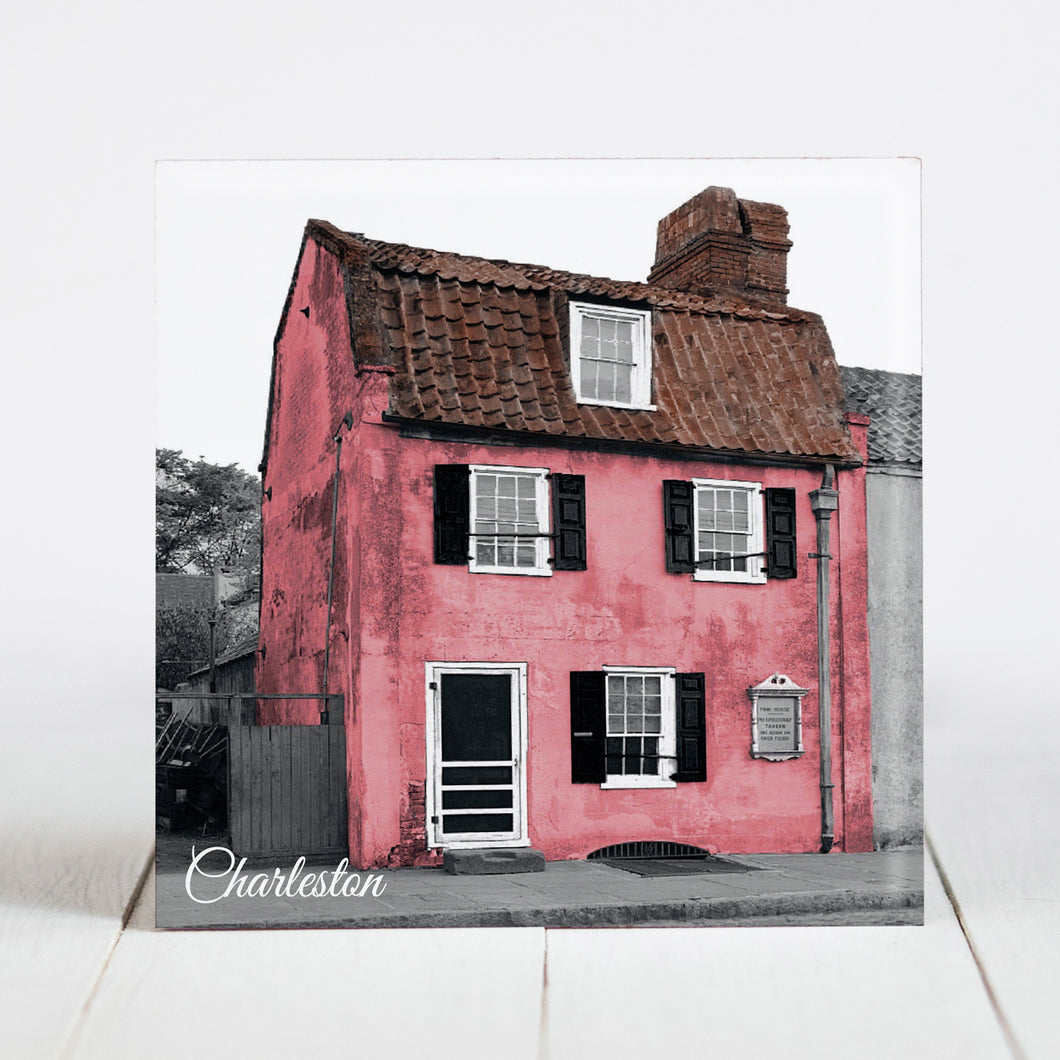 The Pink House on Chalmers Street - Charleston, SC c.1940