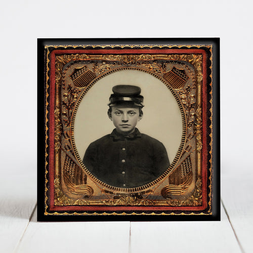 Young Union Soldier in Forage Cap - Civil War Era