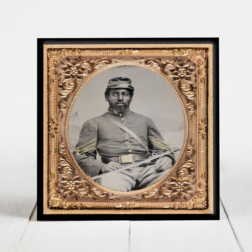 Union Cavalry Soldier with Saber - Civil War Era
