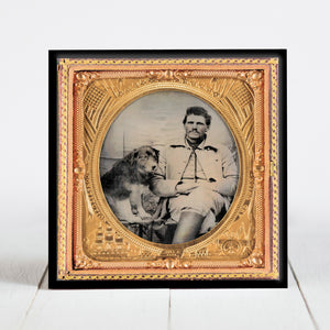 Union Soldier with Dog - Civil War Era