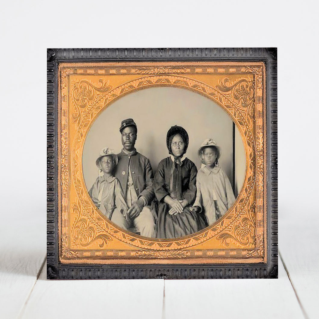 Union Soldier with Family - Civil War Era