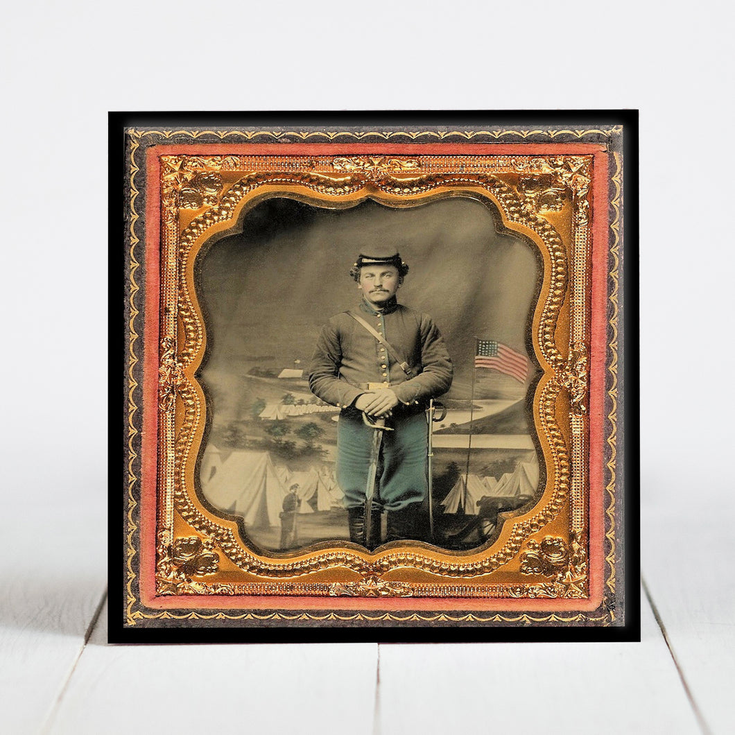 Union Soldier with Sword - Civil War Era