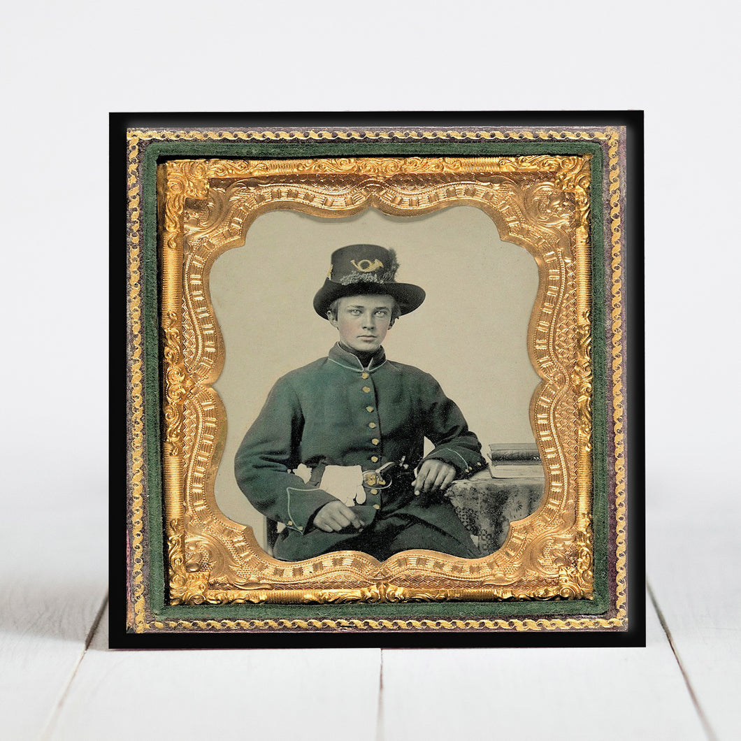 Union Soldier with Plumed Hardee Hat - Civil War Era