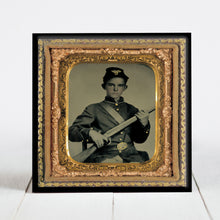Load image into Gallery viewer, Young Union Soldier with Rifle Musket - Civil War Era
