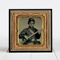 Young Union Soldier with Rifle Musket - Civil War Era