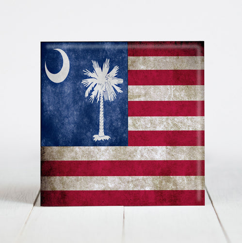 Vintage American with South Carolina Flag