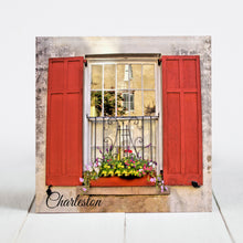 Load image into Gallery viewer, Window Box, Red Shutters - Charleston SC