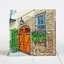 Load image into Gallery viewer, Wooden Door with Window Box, Charleston SC