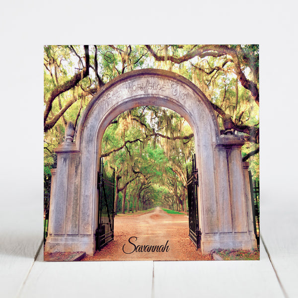 Entrance Arch at Wormsloe Historic Site -  Savannah, GA