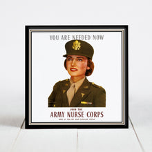 Load image into Gallery viewer, Army Nurse Recruitment Poster c.1943