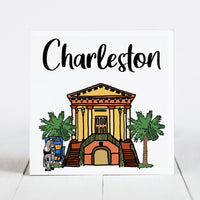 Charleston City Market with Horse and Carriage