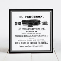 D. Ferguson Undertakers, Coffin Sales - Savannah, GA  c.1800s
