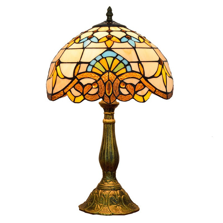 Lampe Bar Club Vitrail  Tiffany  style Baroque - L'Atelier Imbert