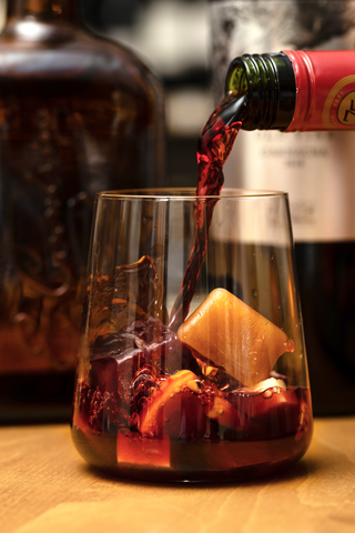 Red Sangria with Mixicles