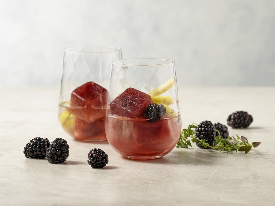 Blackberry Lemon Thyme cocktails