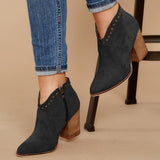 Kakimoda Rivet Pointed Suede Boot