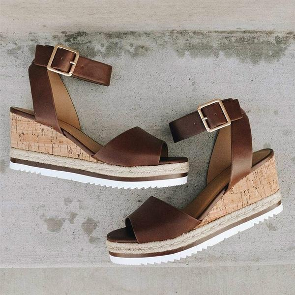 Kakimoda Soild Women Casual Summer Wedge Sandals