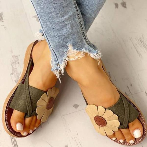 Kakimoda Casual Fashion Summer Flower Sandals