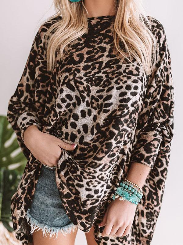 Kakimoda Women Leopard And Flow Shift Sweater