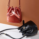 Kakimoda Vintage Crocodile Pattern Women's Bag Bucket bag