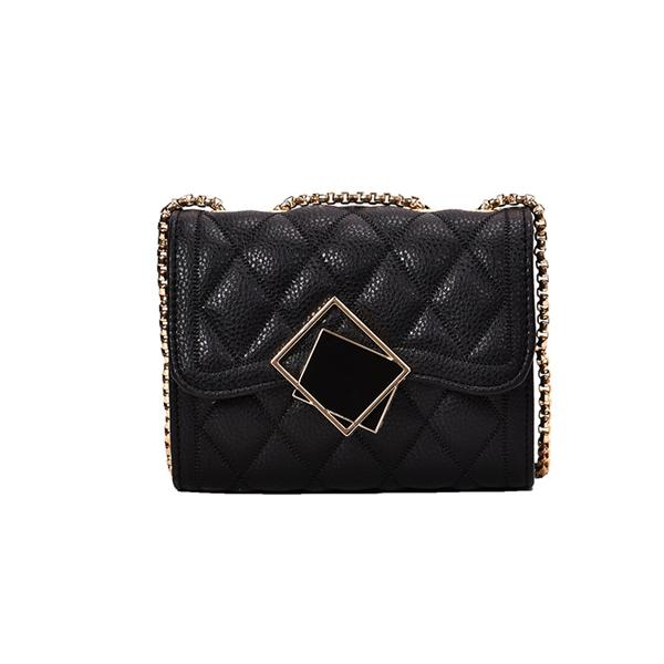 Kakimoda Elegant Diamond Pattern Chain Shoulder Bag