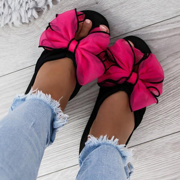 Kakimoda  Casual Thick Slip On Bow Slippers