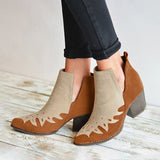 Kakimoda Ankle Booties Color Block Block Heel Slip On Boots